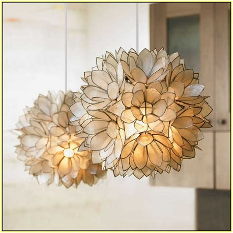 capiz lotus flower chandelier lotus flower chandelier pottery barn home design ideas