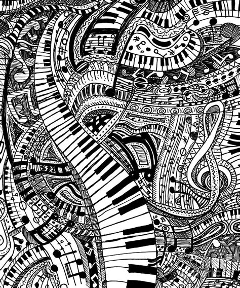 doodle do piano classical doodle with piano keyboard drawing by