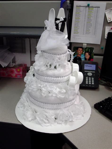 Bridal Shower Idea Towel Wedding Cake by 101 Best Wedding Towel Cakes Images On Wedding