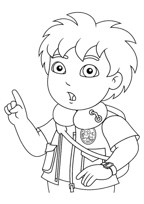 diego coloring pages nick jr free coloring pages of dora nick jr