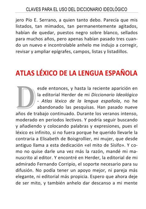 diccionario ideolgico atlas claves del diccionario ideol 211 gico