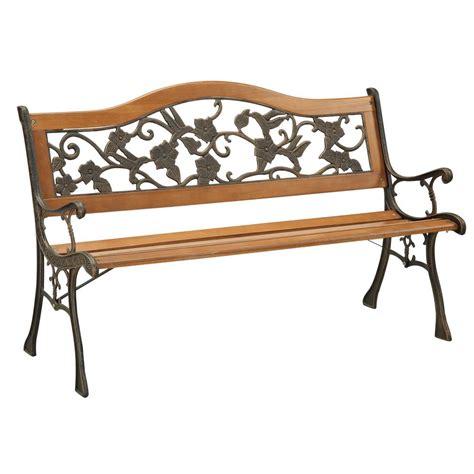 wood bench home depot walker edison furniture company boardwalk dark brown