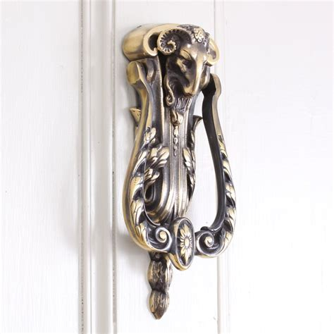 Brass Rams Head Door Knocker Exterior Door Knockers