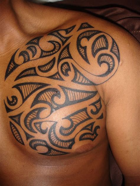 tribal chest piece tattoos 25 adorable tribal chest tattoos creativefan