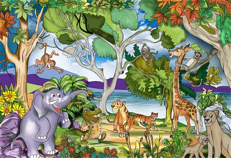 Bedroom Wall Mural Ideas buy childrens jungle murals for 163 35 00 per sq m2 kids
