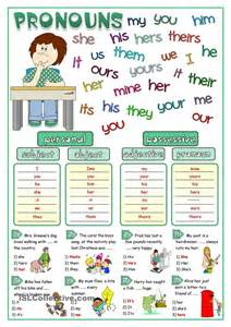 pronouns matching english for children pinterest