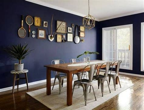 Dining Room Ideas Blue Walls Navy Dining Rooms That Got Our Attention And The