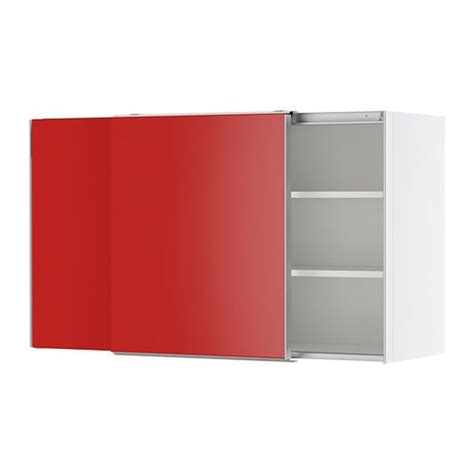 libreria rossa ikea faktum pensile con ante scorrevoli rubrik appl 229 d rosso
