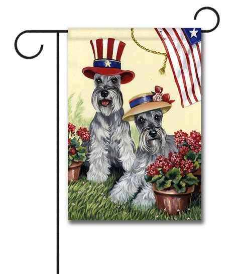decorative flags for the home schnauzer american pride garden flag 12 5 x 18
