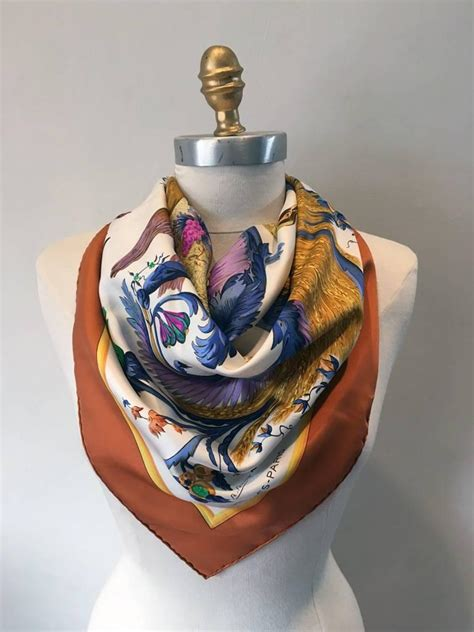 hermes vintage cer 233 s silk scarf c1960s for sale at 1stdibs