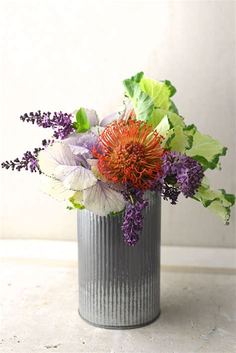 Tin Vases For Flowers by Norah Corrugated Zinc Vase 7 Quot