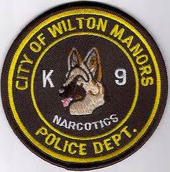 wilton manors city k9 narcotics florida, fl, police patch