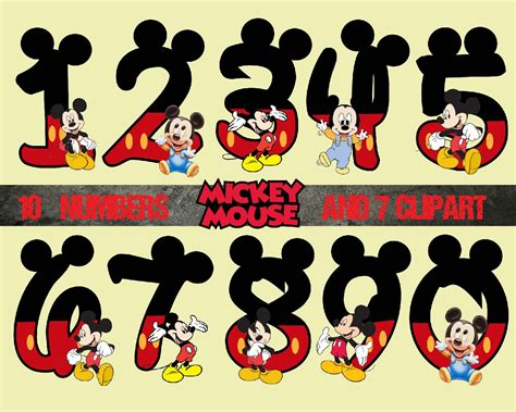 printable disney art mickey number and clipart disneyprincess digital by room25days