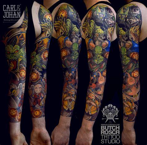 dragon ball z tattoo sleeve z sleeve slashed by butch rosca www