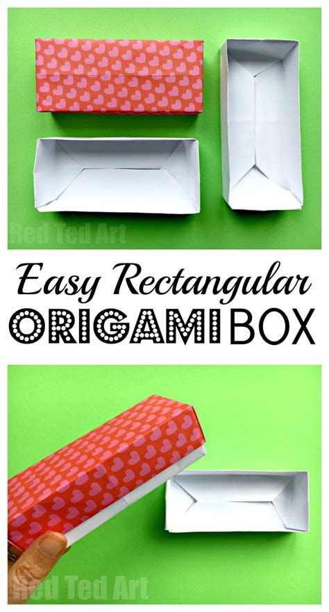 How To Make A Rectangular Box Out Of Paper - easy rectangular origami box ted s