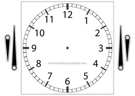 Printable Adjustable Clock | telling the time clock flashcard with adjustable hands