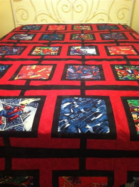 spiderman pattern fabric 23 best images about marvel comic quilts on pinterest