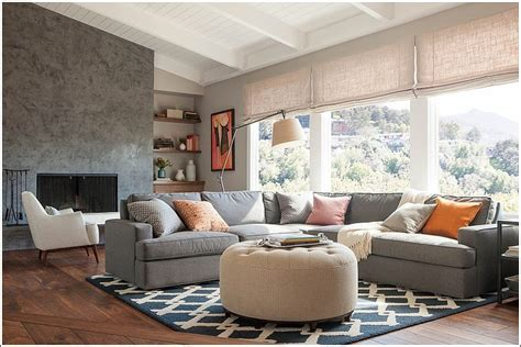 family room ottomans stylish ottomans for decorating your living room
