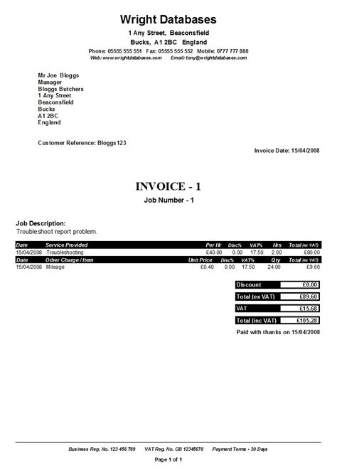 Self Employed Invoice Invoice Template Ideas Self Employed Cleaner Invoice Template