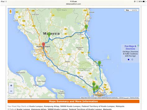 maps and trips south malaysia road trip map parenting times