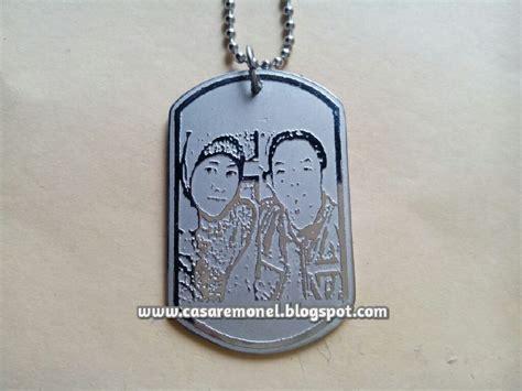 Kalung Nama Silver Monel Polos Ukir Nama kalung tni army casare monel jepara 085225716666