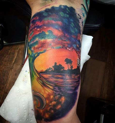 sunset tattoos for men 14 beautifully done sunset tattoos