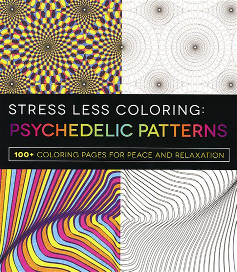 trippy coloring book for sale stress less coloring psychedelic patterns from knitpicks