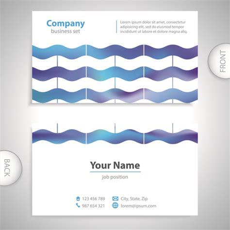 Card Templates Front And Back by Excellent Business Cards Front Back Template Vector 03