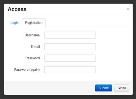 bootstrap templates for login and registration django ajax modal login registration stack overflow