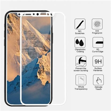 Tempered Glass And Painted Phone For Iphone 5 5d tempered glass front back for iphone x gadgets house