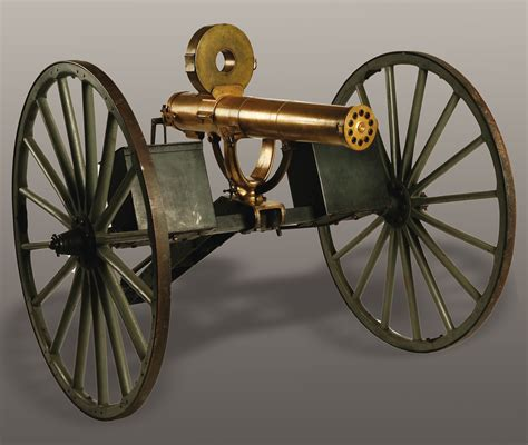 Gasing Cannon collector gets new all metal gatling gun field carriage model 1884 steen cannons