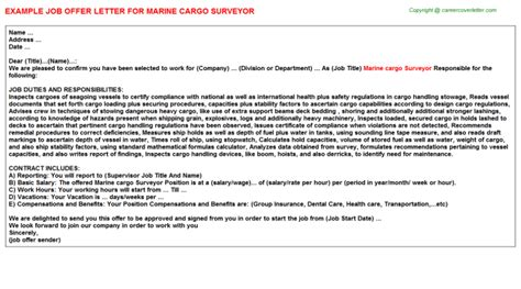 Cargo Handler Cover Letter by Survey Field Crew Offer Letters