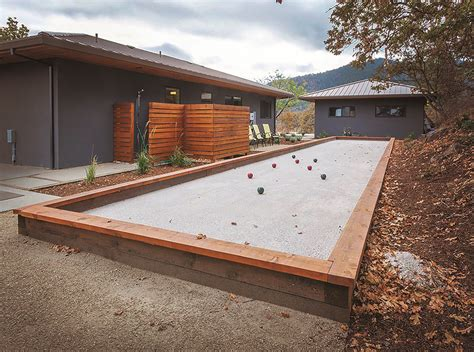 backyard bocce court do it yourself build your own backyard bocce ball court