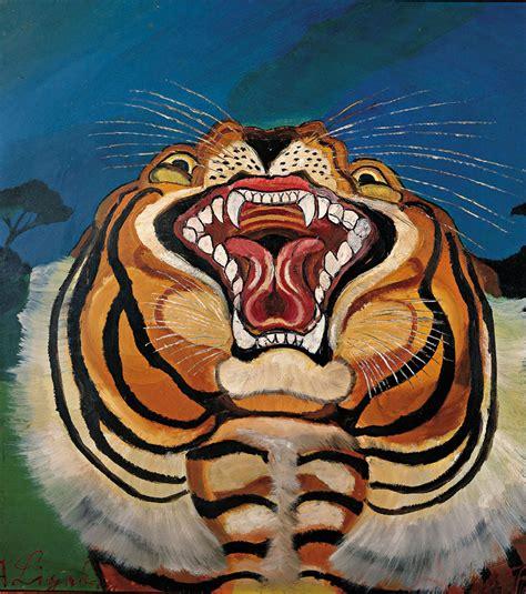 testa di antonio ligabue testa di tigre artribune