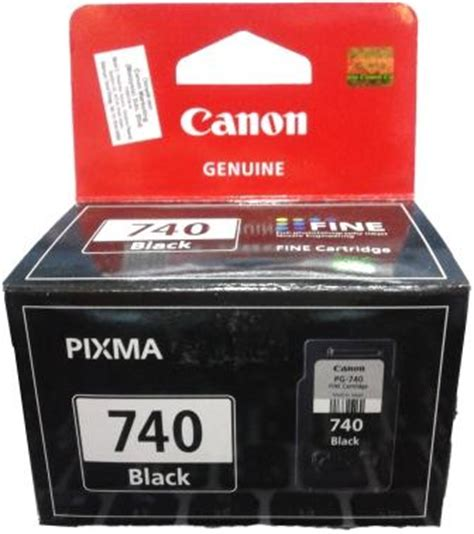 Canon Black Ink Cartridge Pg 740 Canon Black Ink genuine canon pg 740 black i end 10 26 2019 2 25 pm