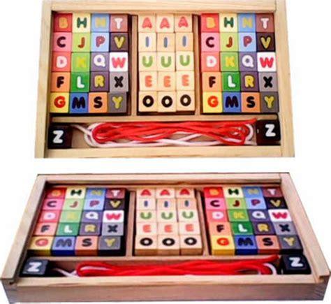 Mainan Mobil Kayu Abjad ronche abjad mainan kayu