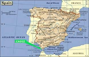 Cadiz Spain Map maps of cadiz