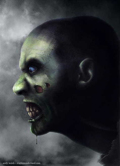 zombie painting tutorial digital painting tutorial zombie portrait stay in