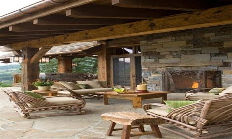 Patio designs, rustic outdoor covered patios covered