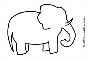 elephant template printable elephant stencil craft ideas