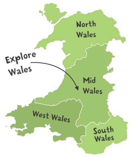 map of wales map of wales wales things