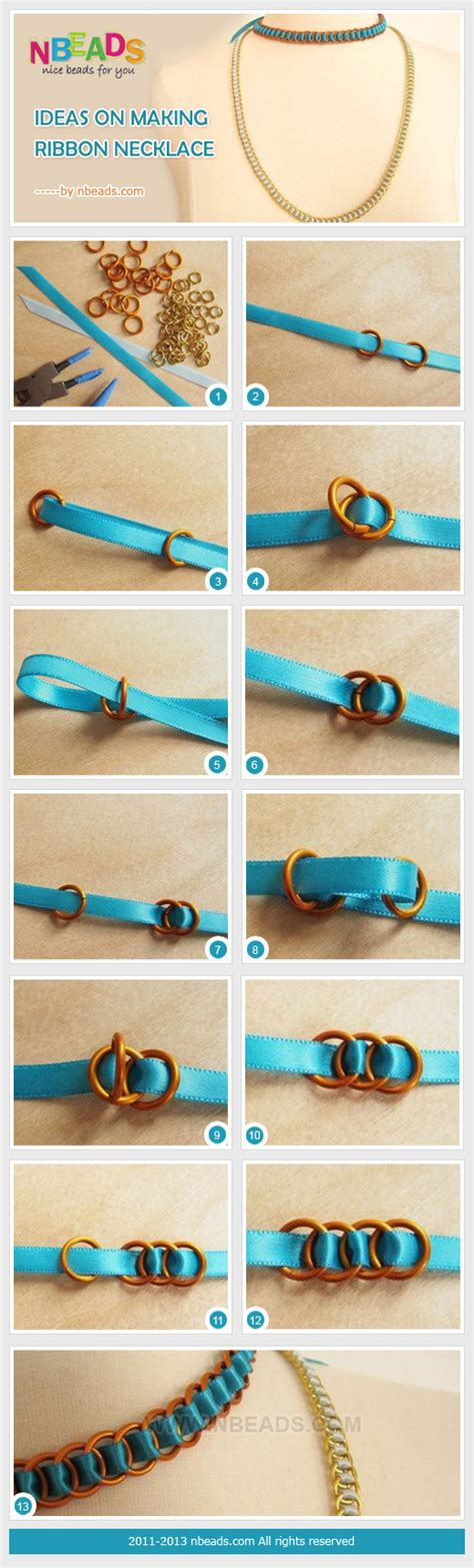 how to make ribbon jewelry ideas on ribbon necklace nbeads