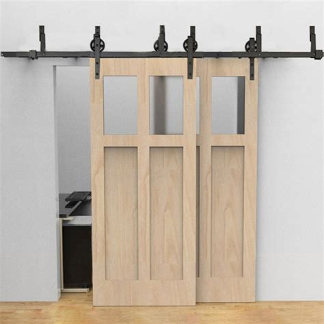 Winsoon 5 16ft Bypass Sliding Barn Door Hardware Double Bypass Barn Door Track