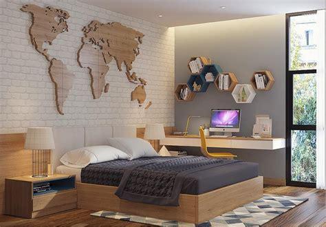 Desain Dinding Untuk Kamar Tidur | 20 desain dinding kamar tidur minimalis kreatif 2018