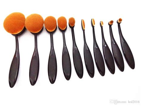 Oval Blending Brush Set Foundation New makeup brushes set oval blending brush multipurpose