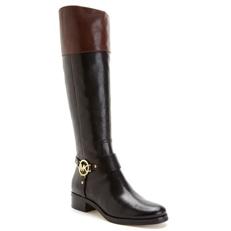 michael kors fulton harness boots in black black mocha