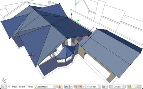 Different Roof Lines Precision Modelling For Architecture With Blender