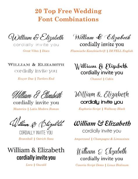 Wedding Invitation Font Combinations by 17 Best Images About Wedding Invitation Font Combinations