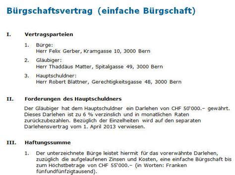 Muster Zession Schweiz Vertrag Einfache B 252 Rgschaft