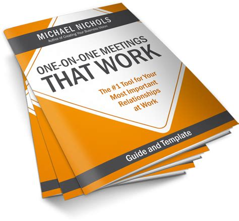 one on one template one on one meeting that works free pdf template